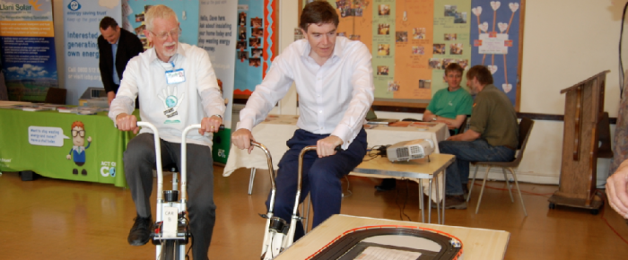 MP Philip Dunne racing by pedal power